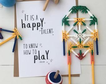 Fine art print: A HAPPY TALENT