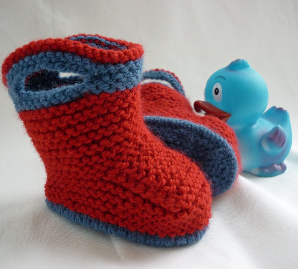 Baby Booties Knitting Pattern, Baby Boots Pattern, pdf Pattern, Knit ...