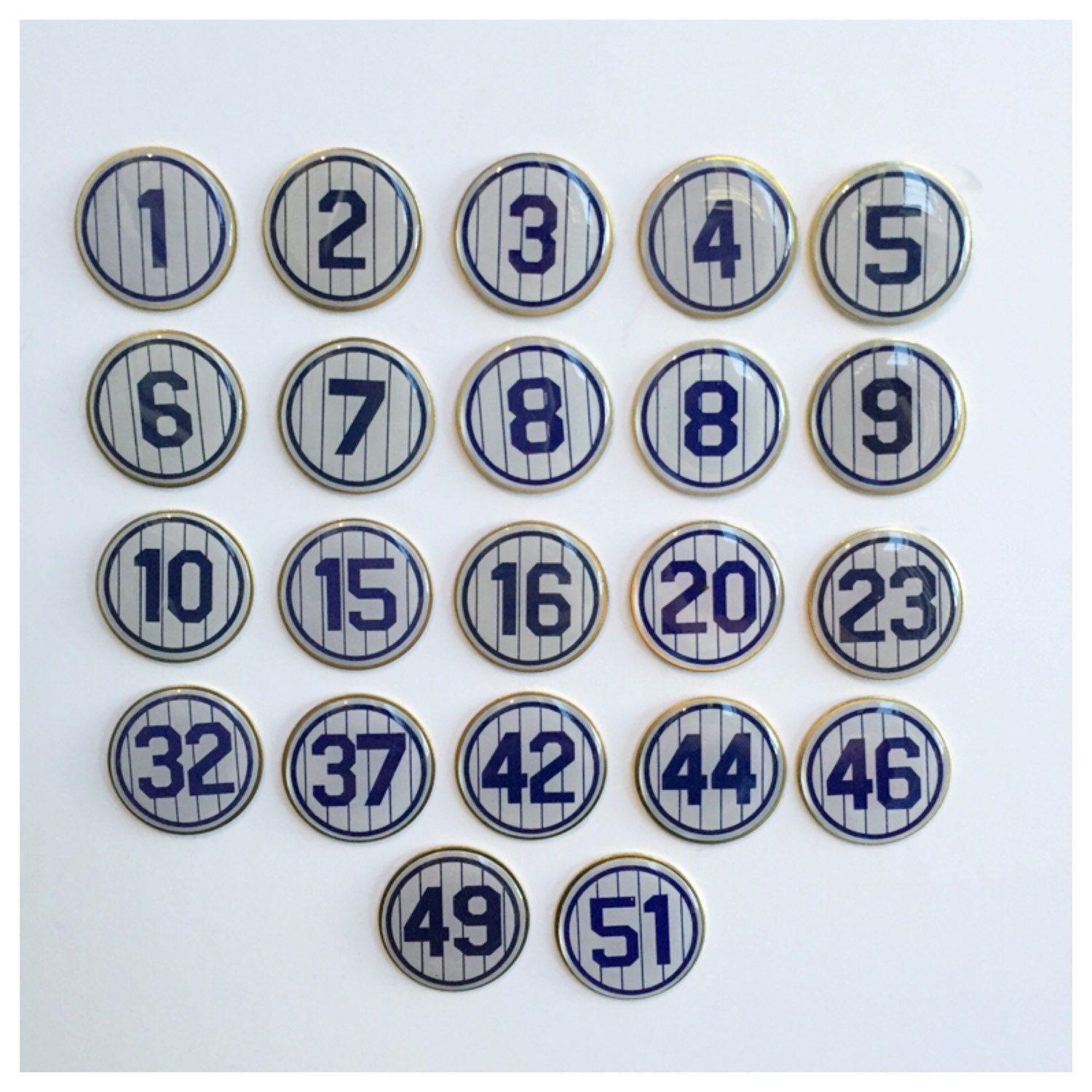 New york yankees retired number lapel pins zoom biocorpaavc Images