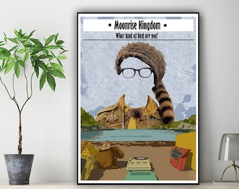 Moonrise Kingdom Minimalist alternative poster, camp Ivanhoe, khaki scout, wes anderson poster, moonrise kingdom art, wes anderson movie