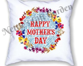 Mothers's Day pillow, pillow for mom, pillow, word art pillow. printed pillow