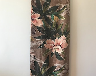1940's/50's Vintage Curtain Yardage of Floral Barkcloth /Vintage Barkcloth Yargage / 40's Home Decor / Floral Barkcloth Panels