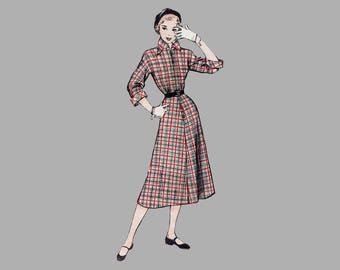 1950s Misses Dress pattern, Butterick 5407, Size 16 bust 34 inches, A-line Skirt dress, Kimono Sleeve dress, 3 quarter sleeve dress Complete