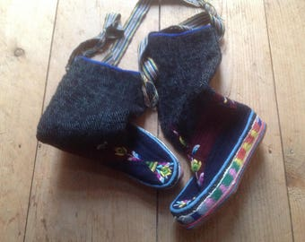 Tibetan embroidered boots