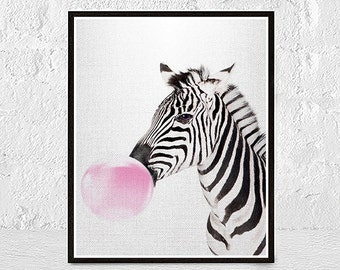Zebra Print, Zebra Wall Art, Safari Nursery Art, Safari Nursery Animal Print, Safari Animal, Safari Baby Shower Art Print, Nursery Printable