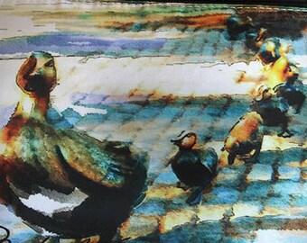 Make Way for Ducklings Boston Public Garden   Boston artwork Sun-kissed Prints for Bedroom Nursery Decor Boston Common