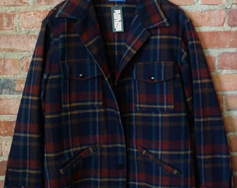 Vintage Pendleton Men's Plaid Wool Jacket Size Medium