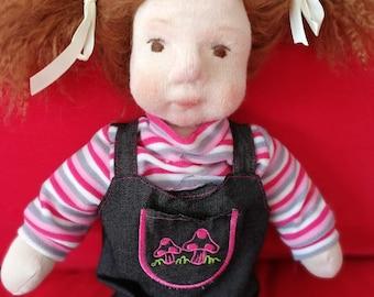 waldorf inspired doll - Amber, 18inch, 46cm, soft doll, natural doll, toddler, bamboletta, toddler gift