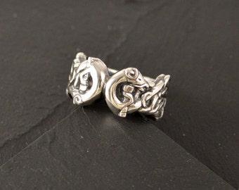 Drekki, sterling silver ring