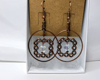 Copper Knot Earrings