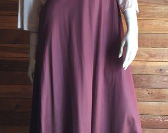 Vintage Lingerie 1970s LORRAINE Tan Brown Size Small Peignoir or Robe