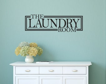 Laundry Room Decor - Laundry Room Decal - Home Decor Laundry Room Decal - Laundry Sign Decal - Home Wall Decals - Wall Decals - Wall Decor