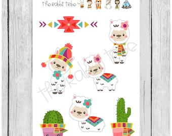 Mini Sticker Sheet - sweet alpacas - planner stickers