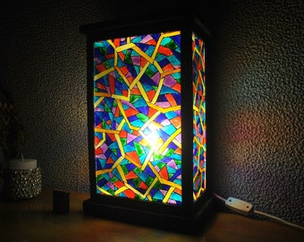 The stained-glass lamp