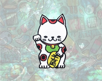 Lucky Cat Patch Cartoon Animal Patch Iron on Patch Sew On Patches