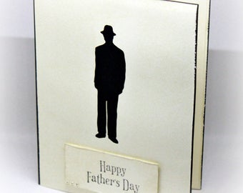 Fathers Day Card - Silhouette Card - Masculine Card - Retro Card - Dad Card - Mad Men Inspired Card - Minimalist Card - Simple Card