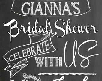 welcome bridal shower sign, days left until I do, days away until I do chalkboard style, bridal shower welcome sign, bridal shower decor