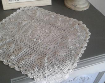 Napperon crochet papillon