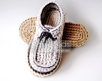 Crochet pattern: men loafers with rope soles,soles pattern included,slippers,shoes,sneakers,laced up,adult,teen boys,footwear,cord,twine