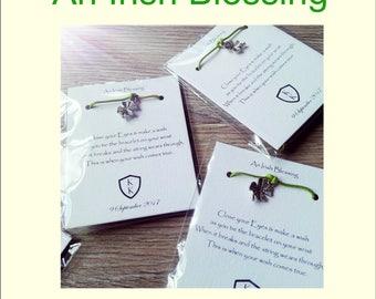 An Irish Blessing- wedding Favours - friendship bracelet - lucky Bracelet - Good Fortune