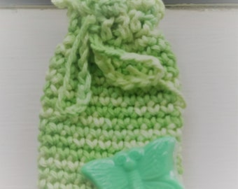 Soap Saver,  Jewelry Pouch, Crochet bag, Treasure Keeper
