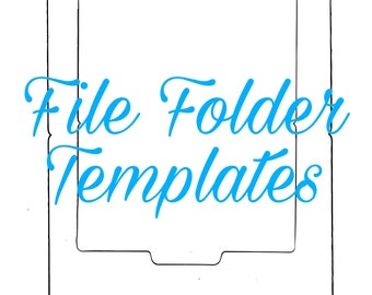 Mini File Folder Templates