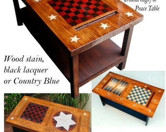 Americana Game Table and Coffee Table
