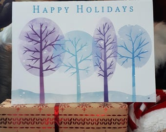 Winter Trees Downloadable Card