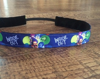 Inside out no slip headband. Inside out headband, women's Inside Out headband, girl's Inside Out headband, accessories, Inside out costume
