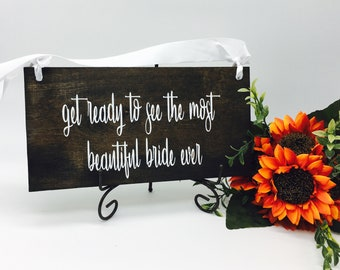 Wedding Signs - Ring Bearer Sign - Rustic Wedding Decor - Wedding Decor - Rustic Wedding - Wood Signs - Wedding Signage - Wedding Gift