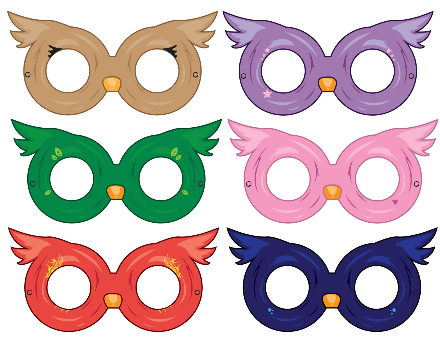 Owl Masks Paper Masks Printable Mask Party Ideas Party