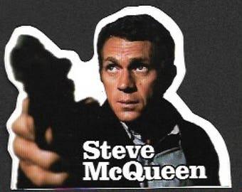 Steve McQueen Vintage Die Cut Sticker
