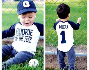 Rookie of the year birthday shirt, Baseball birthday shirt, boys birthday shirt,baseball birthday party, 1st birthday shirt, first birthday