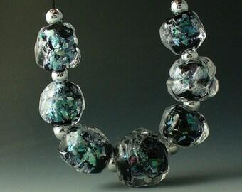 Lampwork beads/SRA lampwork/glass beads/dichroic/nuggets/
