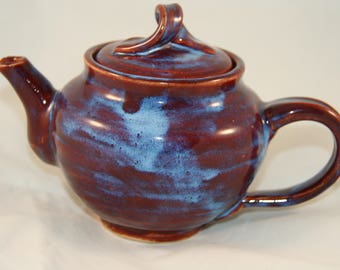 Red and Blue Personal Teapot