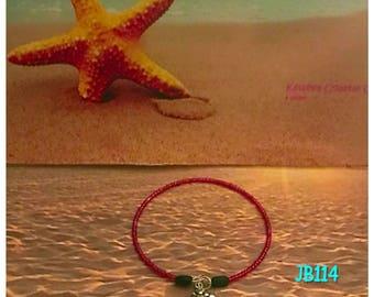 Crab Charm Memory Wire Bracelet