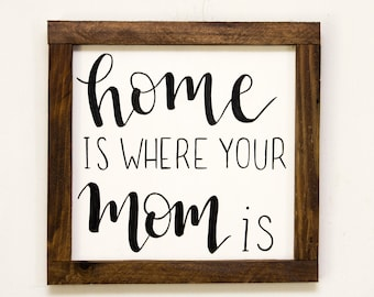Home is where your mom is Mother's day gifts Gifts for mother Gifts for mom Gifts for women Birthday for mom Mom gifts First mother's day
