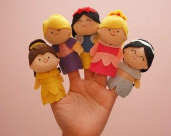 5 Princess finger puppet