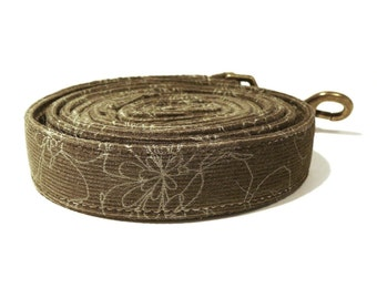 Green dog leash - Corduroy pet lead - Microcord dog lead - Forest green dog leash - Forest thoughts corduroy dog leash