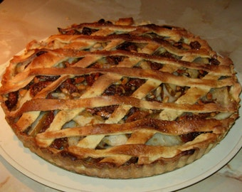 Fresh  Fig  Pear  TART and Beet  SOUP Recipes  Laminated Chart  with 2 Great Recipes
