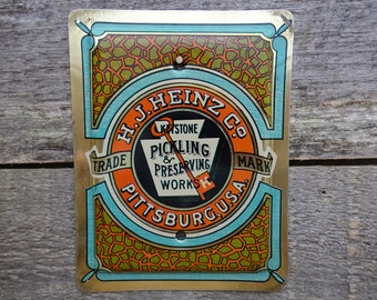 Blank No Toggle Switch Plate Cover Switchplate Single Made From An Old Heinz Relish Tin For Empty Switches BK-2012