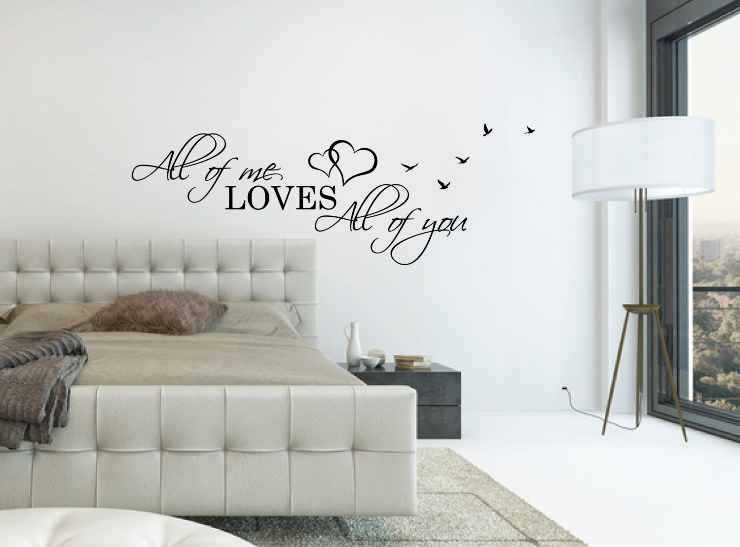 zoom Above Bed Wall Decal Quote All