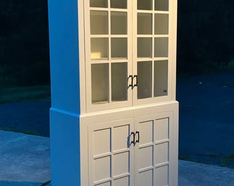 China Cabinet , Hutch with Glass Doors, Bookcase, Bookshelf
