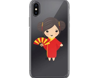 China Doll iPhone Case - Cute Cellphone Case - Unique Cell Phone Case - China Doll - chandelle - one of a kind