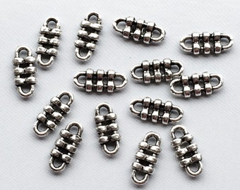 25 pc Pewter Links 11.5mm Antique Silver BULK Wholesale, contemporary silver jewerly link, silver connectors - PBF099-25