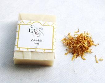 Soap - Calendula Soap - Baby Soap, Natural Handmade Soap - Unscented Soap