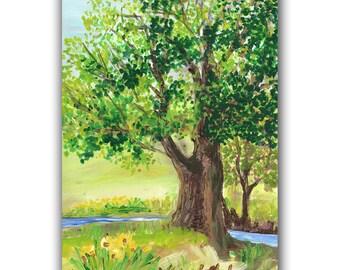Summer Original Acrylic Painting llmartin
