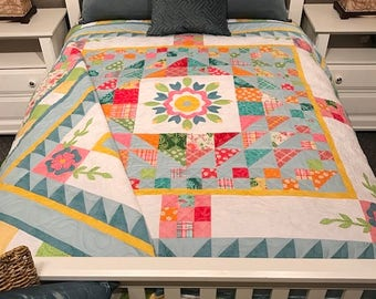 Floral Whimsy Downloadable Quilt Pattern