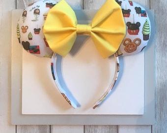Disney Snacks Ears. Dole Whip Mickey Ears. Popcorn Mickey Ears. Mickey Ice Cream Bars.