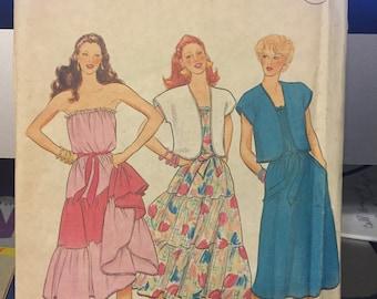 Vintage Butterick pattern 4281 - misses/misses petite jacket, dress & sash - size 10 - uncut